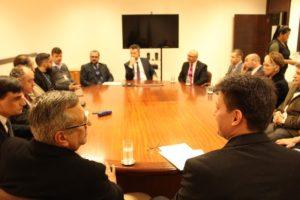 Representantes do Fórum de Presidentes comparecem à reunião na Corregedoria-Geral da Justiça