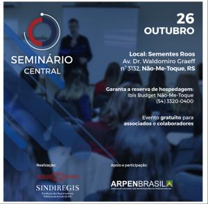 Sindiregis: Arpen Brasil é apoiadora e participante do Seminário Central