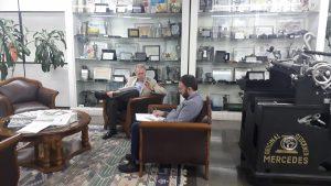 Presidente do Colégio Registral do RS visita Jornal do Comércio para apresentar CRI-RS