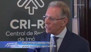Clipping – TV Pampa   Jornal da Pampa – Registro de Imóveis: Serviços de cartórios podem ser feitos na internet