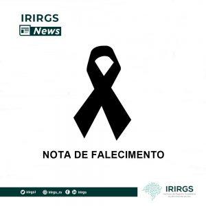 IRIRGS se solidariza com o falecimento do sobrinho do presidente da Anoreg/RS Danilo Alceu Kunzler