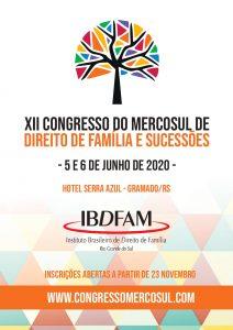 IBDFAM – XII Congresso do Mercosul de Direito de Família e Sucessões