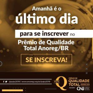 Amanhã é o último dia para cartórios gaúchos se inscreverem no PQTA 2019 com 10% de desconto