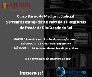 Fundação Enore e Escola da Ajuris promovem Curso Básico de Mediação Judicial para Serventias Extrajudiciais