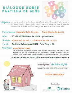 Fundação Enore e Escola Extrajud promovem evento sobre partilha de bens no próximo dia 27