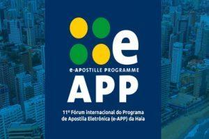 Anoreg/BR: Inscrições para o 11º Fórum Internacional do Programa de Apostila Eletrônica (e-APP) da Haia vão até o dia 12 de outubro