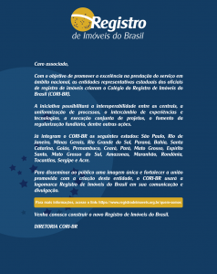 Criado o Colégio do Registro de Imóveis do Brasil (CORI-BR)