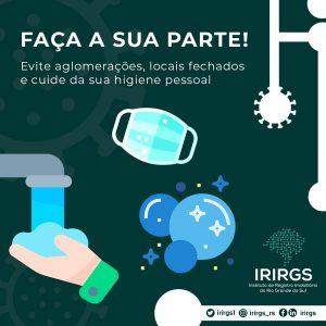 IRIRGS divulga material ilustrativo sobre o Coronavírus e serviços eletrônicos disponíveis para população