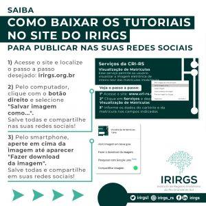IRIRGS divulga passo a passo para compartilhamento de tutoriais dos serviços da CRI-RS nas redes sociais