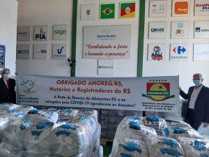 Campanha Cartórios do Bem RS arrecada mais de 10 mil kg de mantimentos para o Banco de Alimentos do Estado