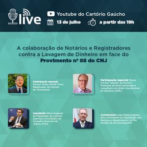 Anoreg/RS promove Live sobre o Provimento nº 88 com a participação de conselheiro do CNJ