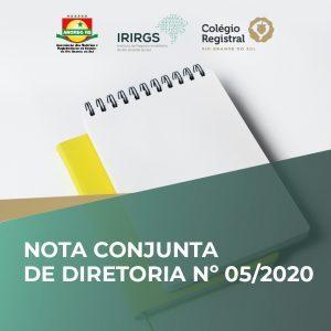 IRIRGS, Colégio Registral do RS e Anoreg/RS publicam nova Nota Conjunta de Diretoria
