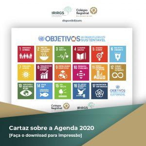 IRIRGS e Colégio Registral do RS disponibilizam cartaz sobre a Agenda 2030 da ONU para seus associados